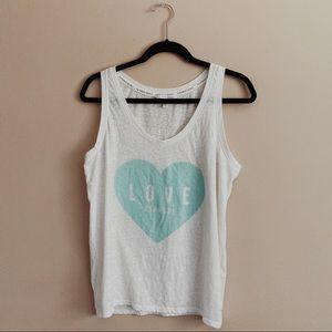 VS | White Love Heart Tank